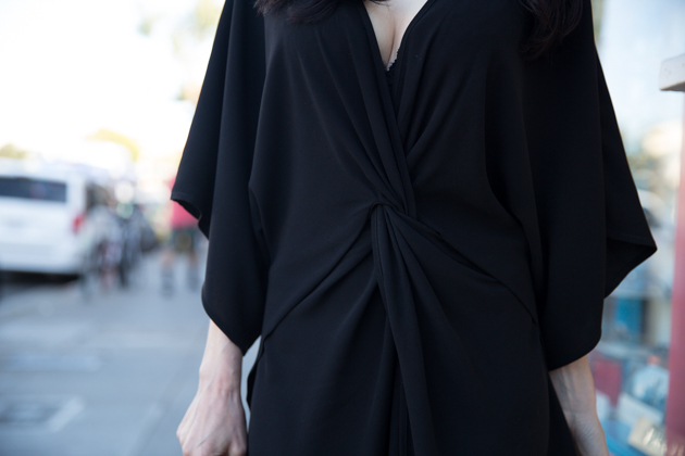Shop Tobi Black Wrap Dress