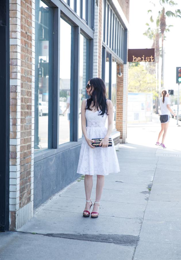 Shop Tobi White Skater Dress