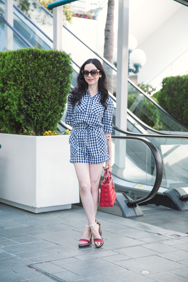 Denim and Supply Gingham Romper