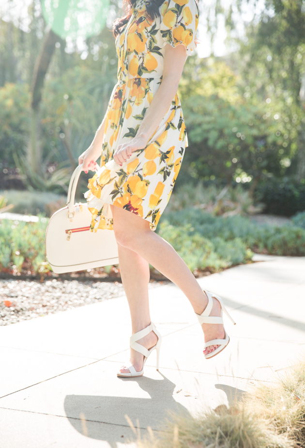 Shein Lemon Print Dress