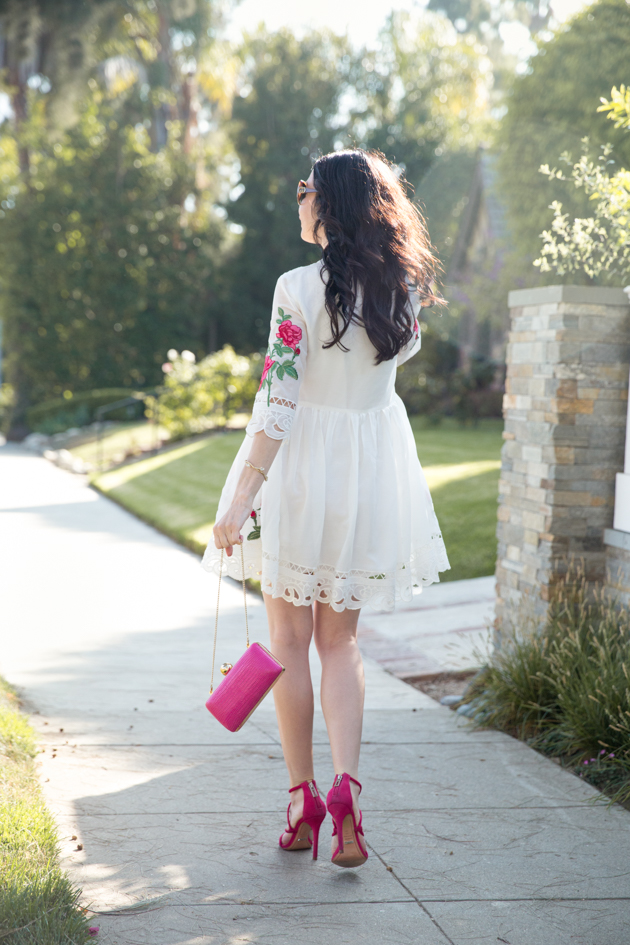 Rose Embroidered Dress