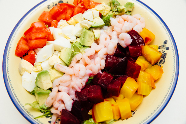Bay Shrimp Cobb Salad Recipe