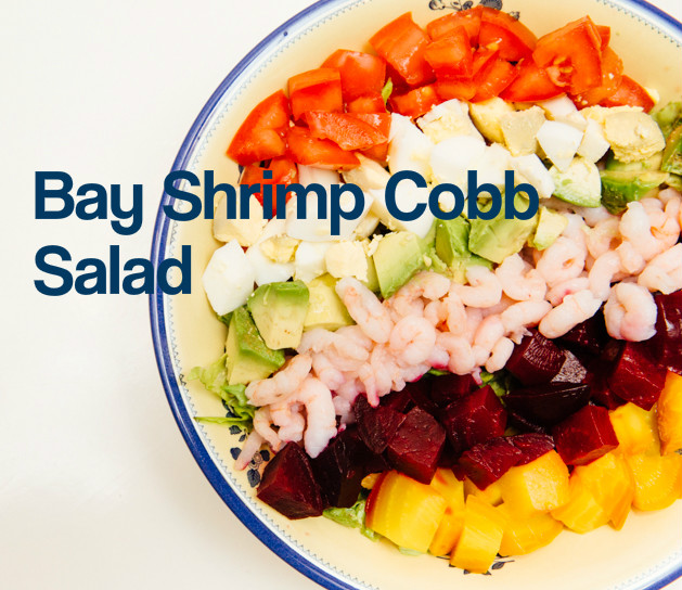 Bay Shrimp Cobb Salad with Paleo Dressing