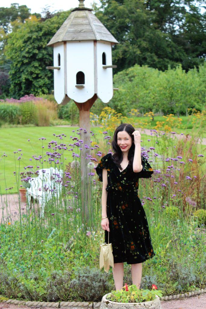 Zara Velvet Floral Dress