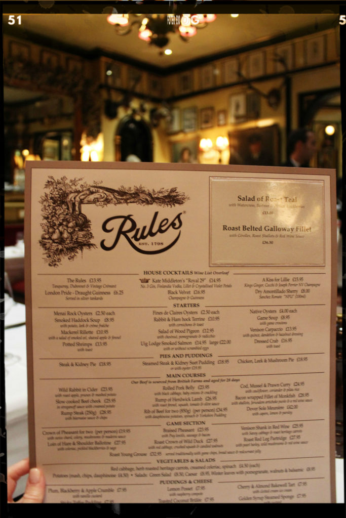 Rules Restaurant London