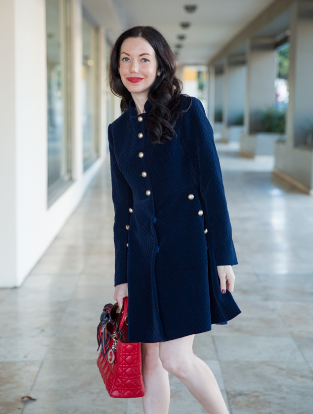 StyleWe Velvet Coat Dress