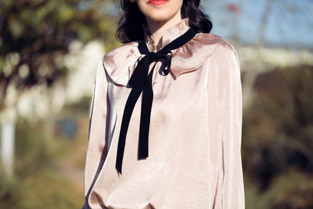 Storets Pink Pussy Bow Blouse