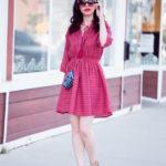 Pink Shirt Dress