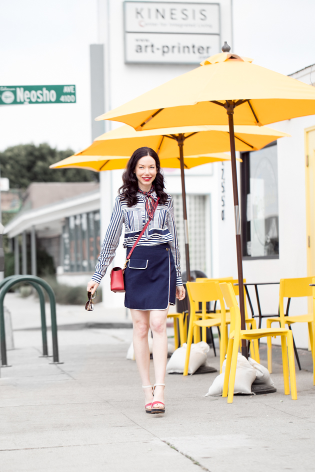 Lisa Valerie Morgan wears Tommy Hilfiger Blouse and Sandals