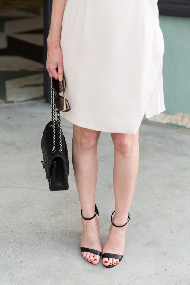 Metisu Dress and Schutz Cadey Lee Sandals