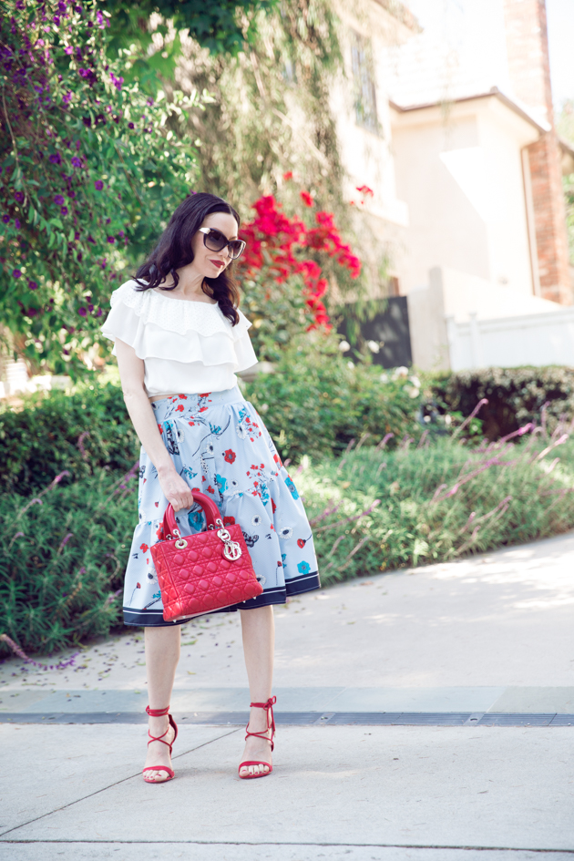 Lisa Valerie Morgan wears Shein Blouse  and Skirt