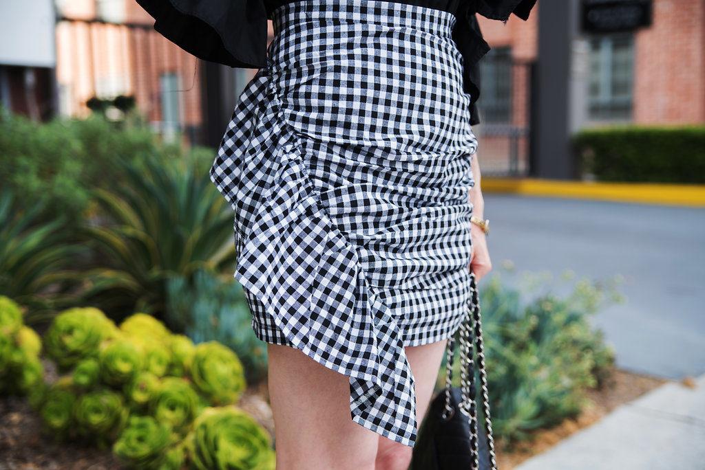 Storets Gingham Skirt