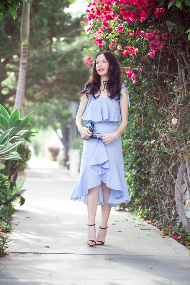 Blue Ruffled Separates - Pretty Little Shoppers Blog