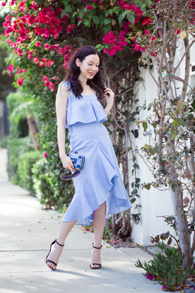 Blue Ruffled Separates