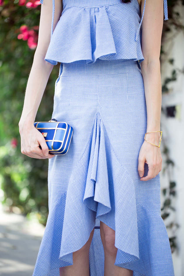 Storets Blue Ruffled Top and Skirt
