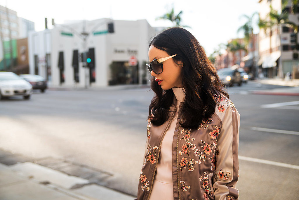 Lisa Valerie Morgan wears Lovers and Friends Bomber Jacket