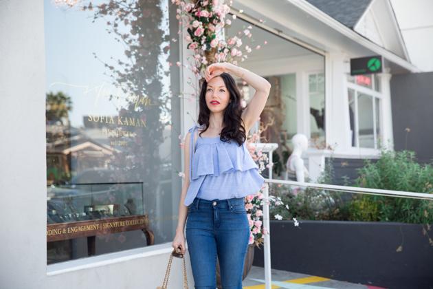 Lisa Valerie Morgan wears Mott & Bow Jeans