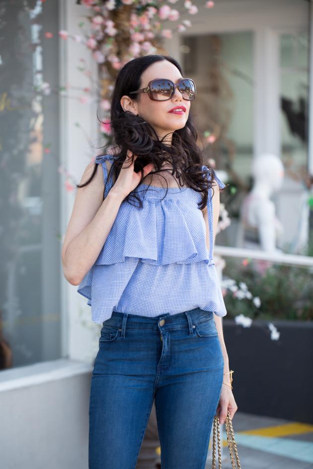 Lisa Valerie Morgan wears Mott & Bow Denim