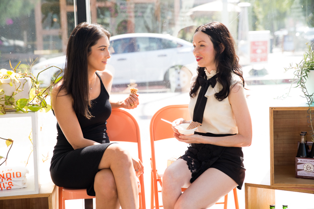 Los Angeles Fashion Bloggers, Neghin Adina and Lisa Valerie Morgan