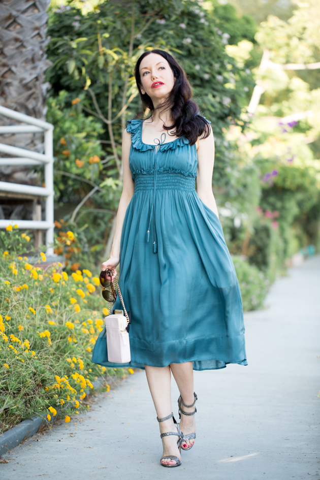 Pretty Little Shoppers Blog wears Rebecca Taylor Chiffon Dress