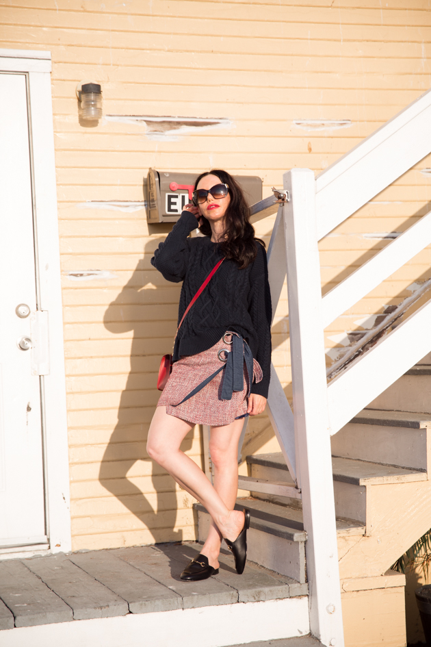 Lisa Valerie Morgan wears A&F Cable Knit Sweater
