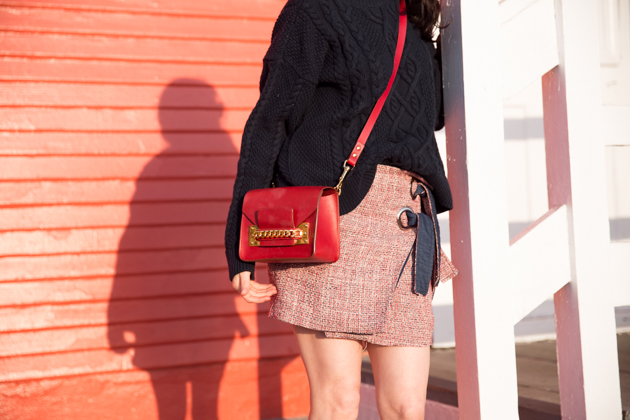 Storets Tweed Skirt and Sophie Hulme Bag - Pretty Little Shoppers Blog