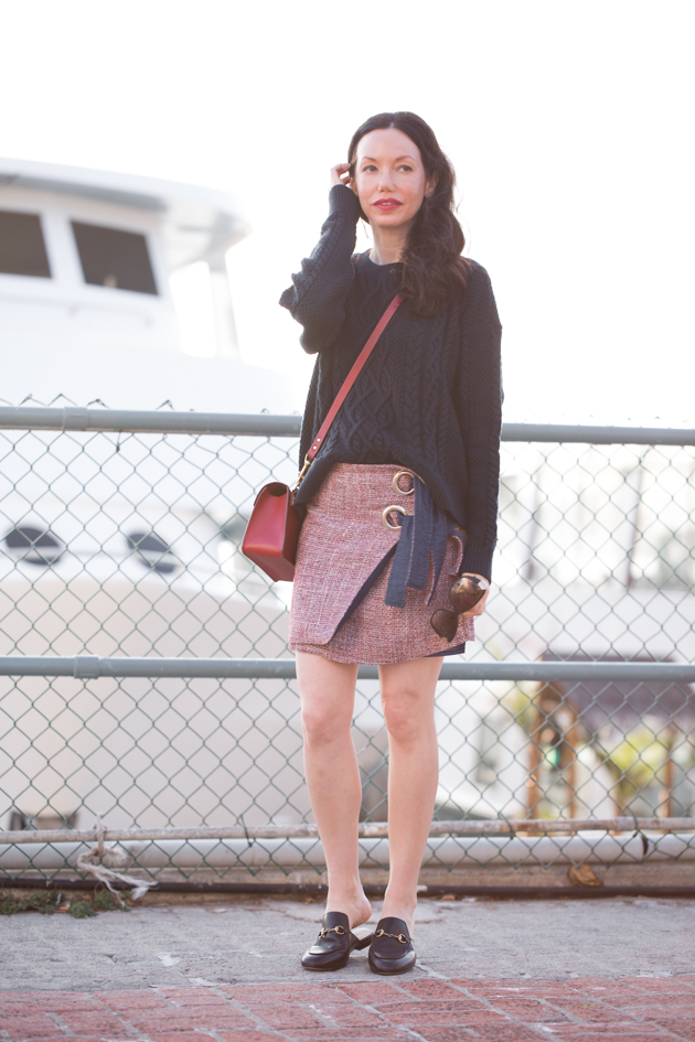 Cable Knit Sweater and Tweed Skirt - Pretty Little Shoppers Blog
