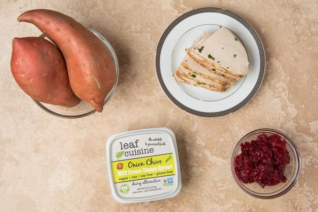 Turkey and Cranberry Sweet Potato Toast Recipe - leaf cuisine Not Cream Cheese Spread