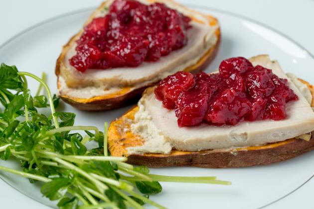 Turkey and Cranberry Sweet Potato Toast
