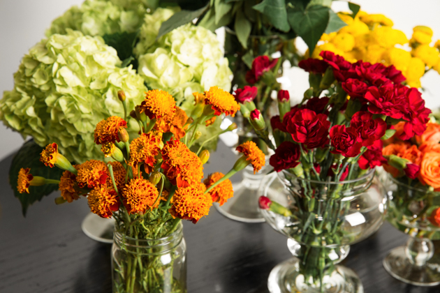 Fresh Floral Display for Fall
