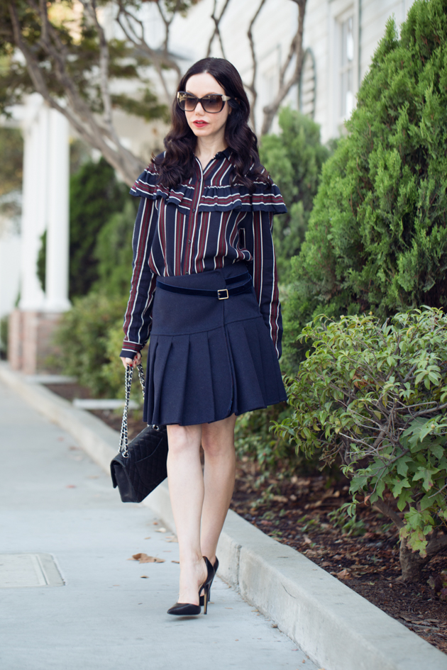 Storets Striped Blouse and Tommy Hilfiger Collection Skirt - Pretty Little Shoppers Blog