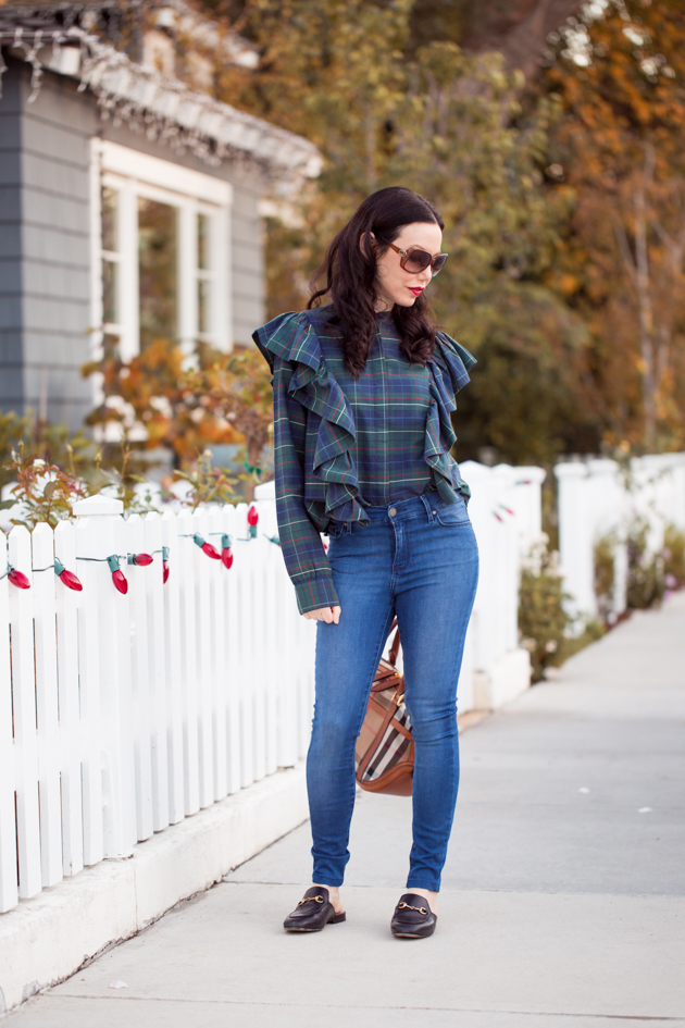 Nordstrom BP Blouse with Mott & Bow Jeans