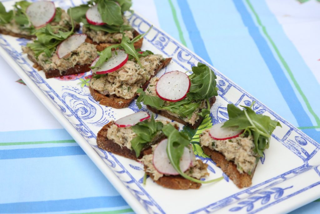 Gluten Free Tea Sandwiches recipe featured by top LA lifestyle blog, Pretty Little Shopper: Smoked-Fish Tartines