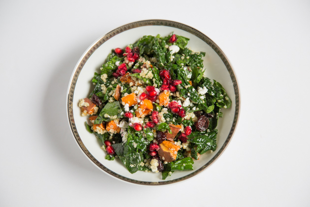 Winter Salad with Quinoa, Sweet Potatoes and Kale