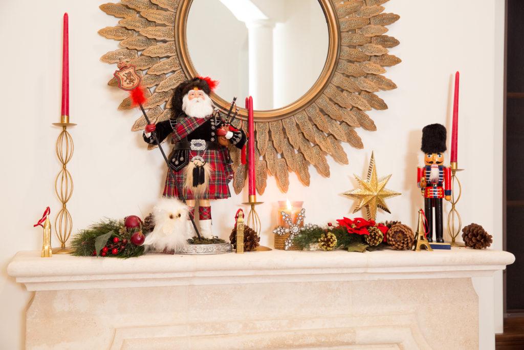 Christmas Mantle Display