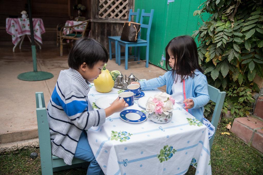 Garden Tea Party Kids Table - Pretty Little Shoppers Blog