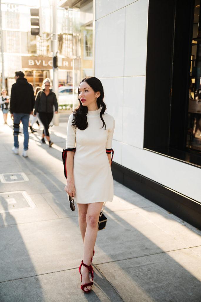 Lisa Valerie Morgan wears Pixie Market Sweater Dress