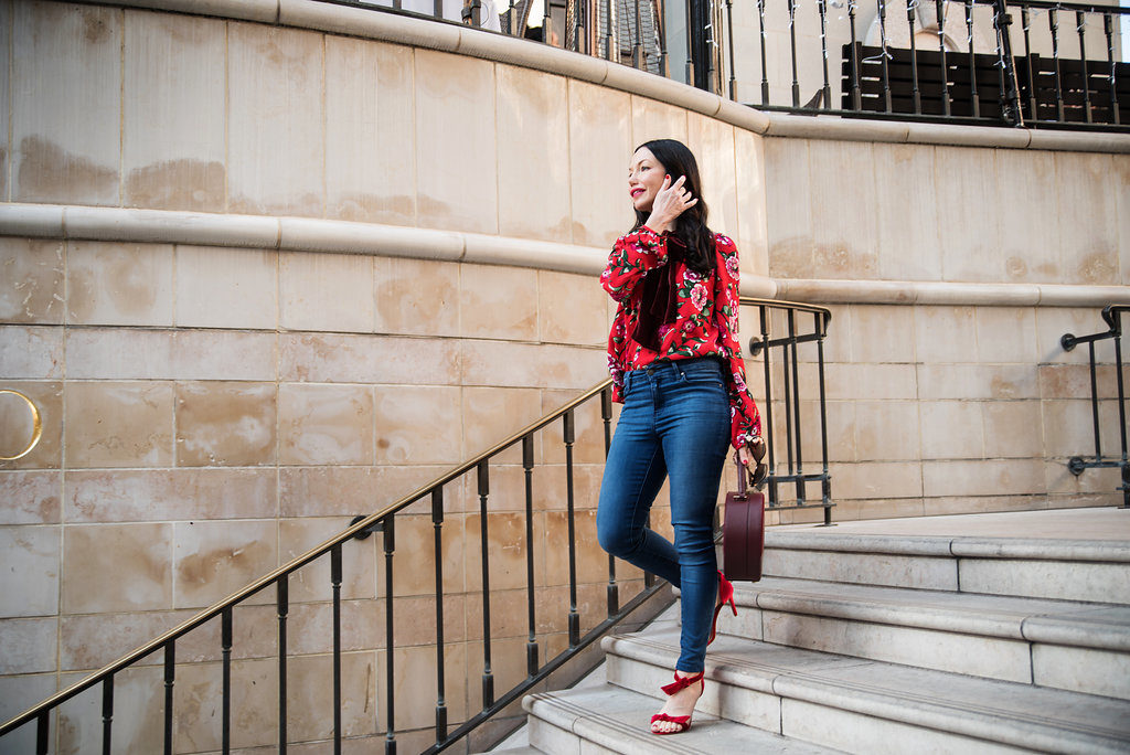 How to Wear Florals in Winter - Pretty Little Shoppers Blog