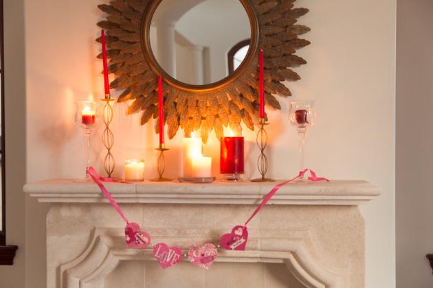 Valentine's Day Decor Mantel