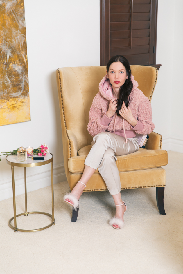 Lisa Valerie Morgan wears Storets Teddy Hoodie