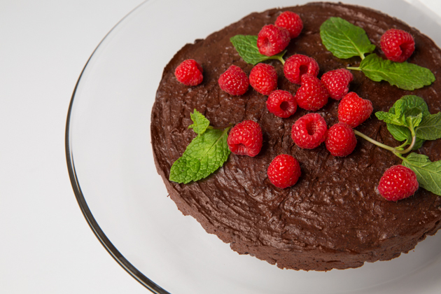 Gluten-Free Double Chocolate Kahlua Cake