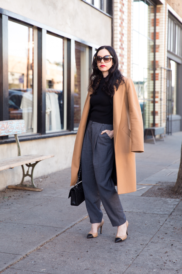 Camel Coat and Pumps - Pretty Little Shoppers Blog