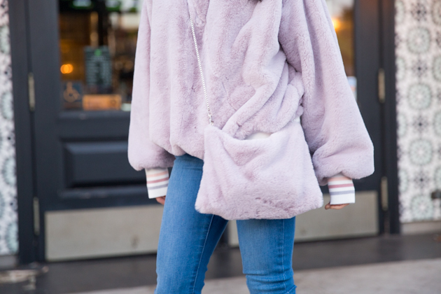 Storets Faux Fur Sweatshirt and Bag