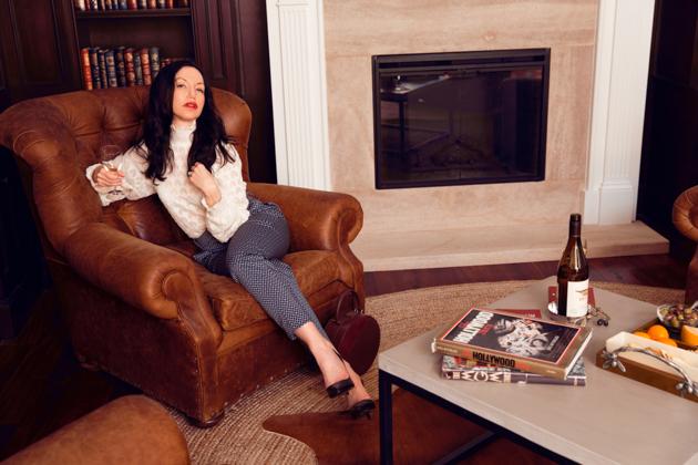 Lisa Valerie Morgan wears H & M Top and Slacks