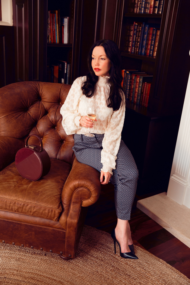 Lisa Valerie Morgan, H & M top and slacks, Zara Pumps
