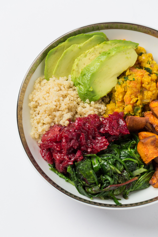 Quinoa, Dal and Sweet Potato Bowl