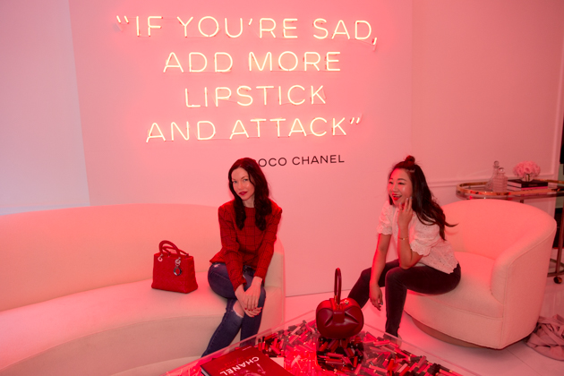 Lisa Valerie Morgan and Sheree Ho visit Chanel Beauty House