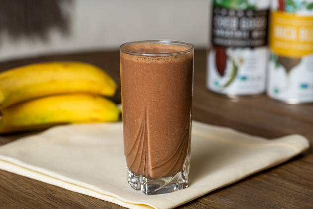 Essential Living Foods Chocolate Banana Adaptogen Smoothie Recipe