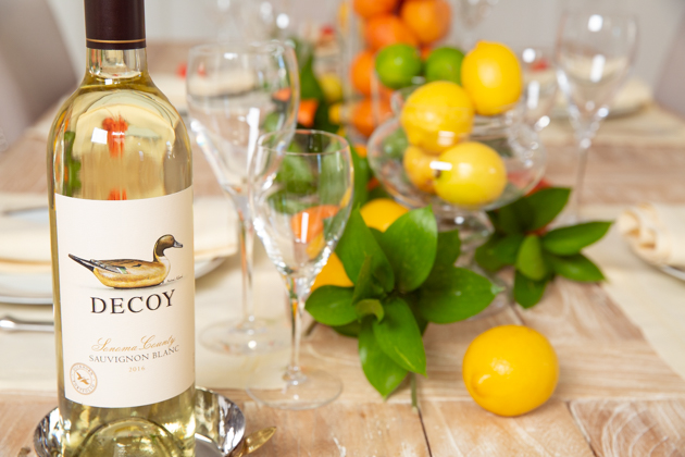 Spring Citrus Tablescape with Decoy Wine