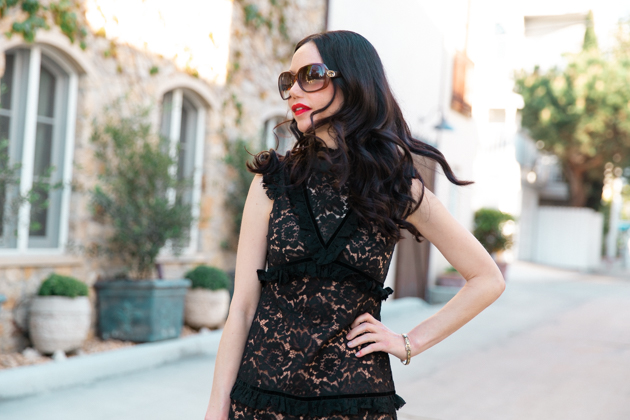 Skylar Belle Black Lace Dress
